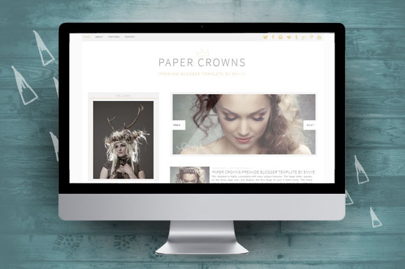 Paper Crowns Blogger Theme Mobile