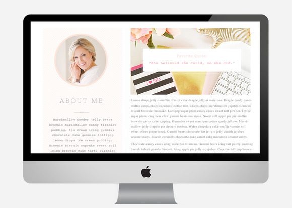 Cambria About Page Template