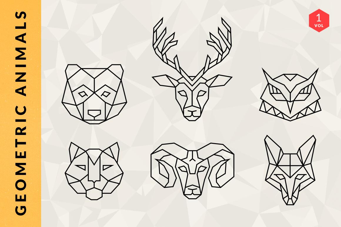 Геометрические фигуры рисунки животных