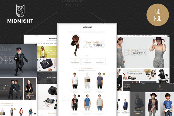 MidNight Fashion ECommerce PSD