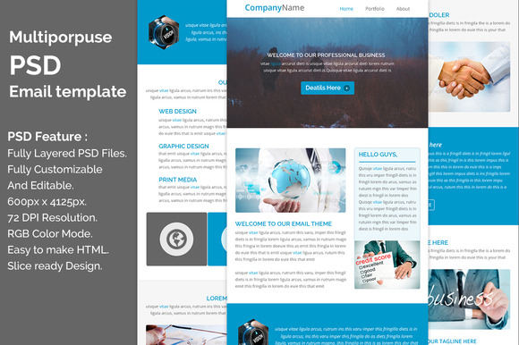 Multiporpuse Psd Email Template E7