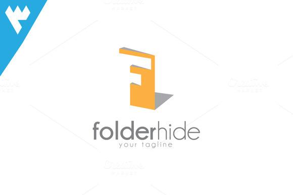 Folder Hide Letter F Logo