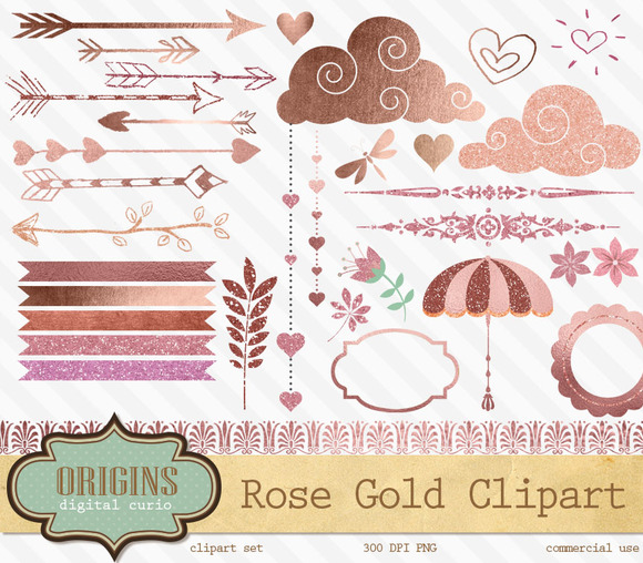 Rose Gold Graphic Elements