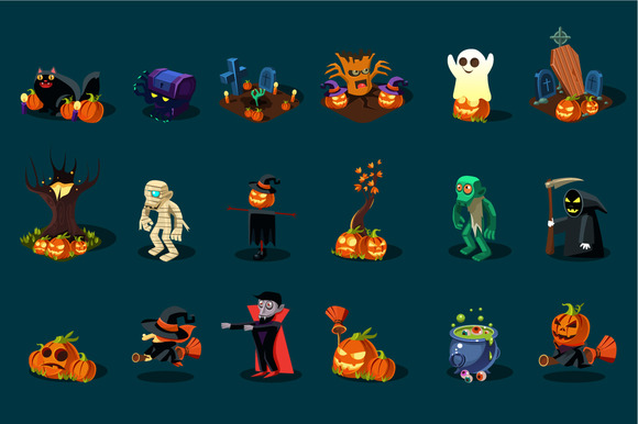Halloween Monsters And Items