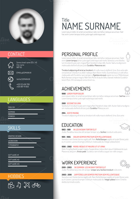 Top 5 Infographic Resume Templates More Top 5 Infographic Resume