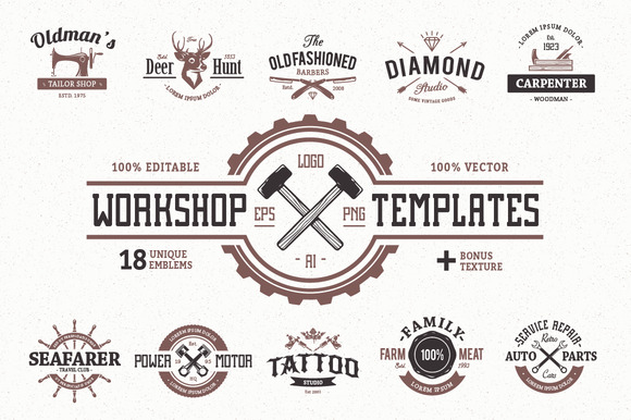 Workshop Logo Templates