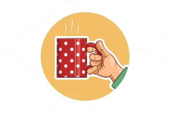Tea Cup In Hand Icon