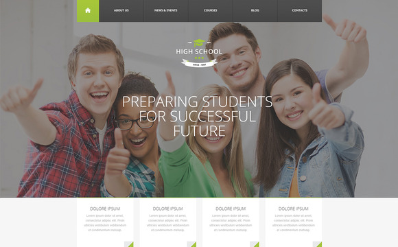 High School WordPress Theme