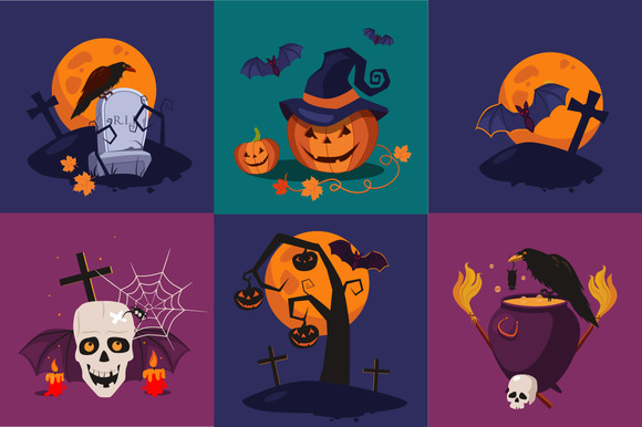 Holiday Halloween Banners Set