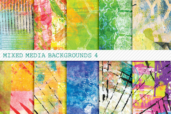 Mixed Media Backgrounds 4