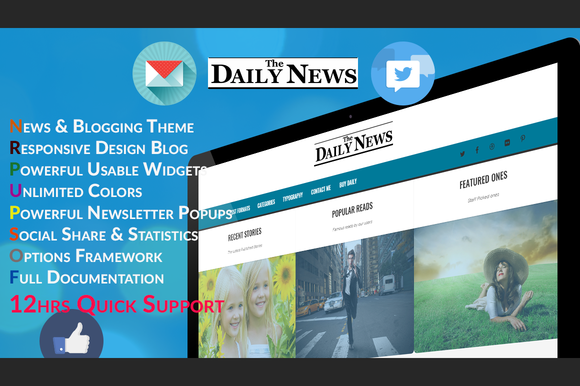Daily Blog News Wordpress Theme