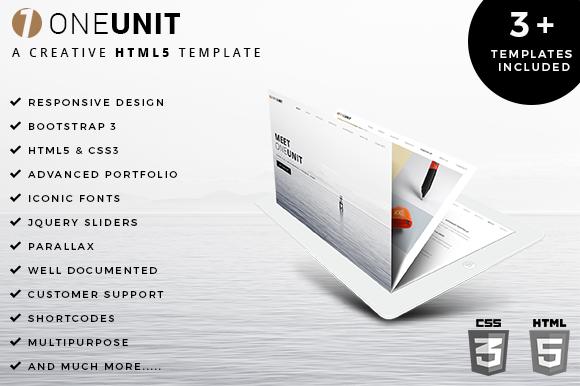 OneUnit Multipurpose HTML5 Template