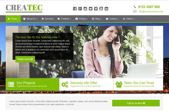 CreaTec Business Website Template