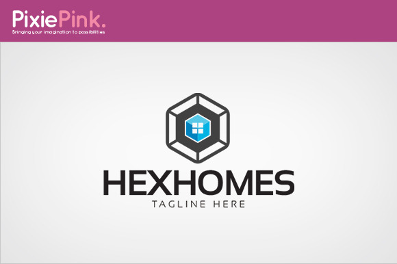Hex Homes Logo Template