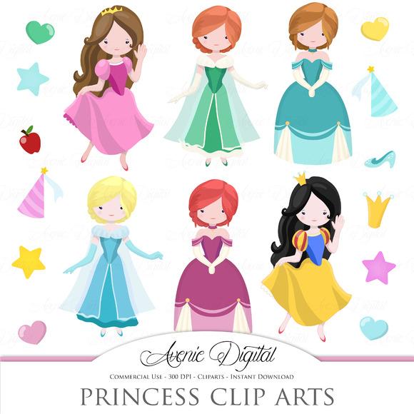 Fairytale Princess Clip Art Vector