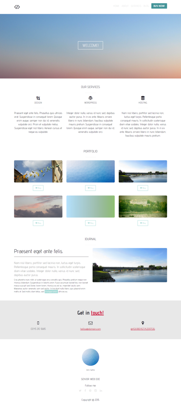 Starter Simple Bootstrap Template