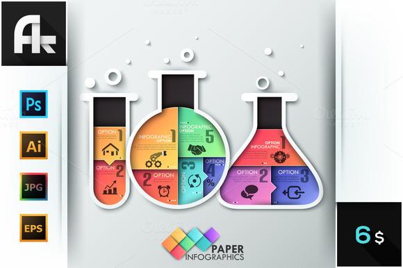 Paper Chemistry Bottles Template