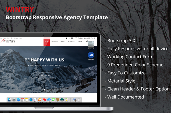 WINTRY Bootstrap Agency Template
