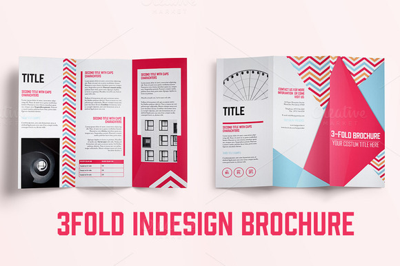 Bi fold brochure template indesign designtube creative for Indesign bi fold brochure template