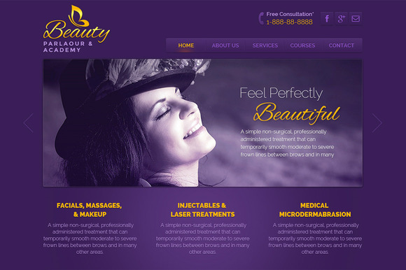 Beauty Parlaour PSD Template