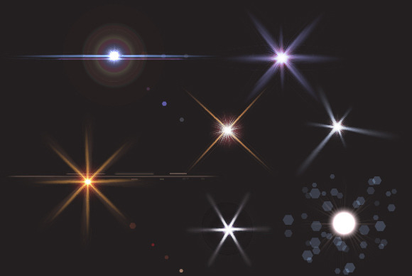 Realistic Light And Glare Stars