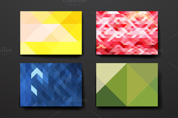 Template With Geometrical Background
