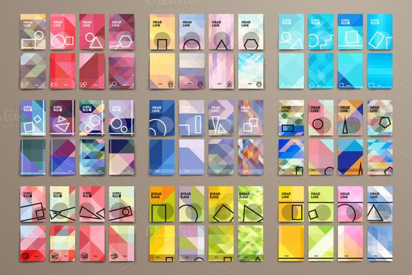Big Pack Geometrical Brochures