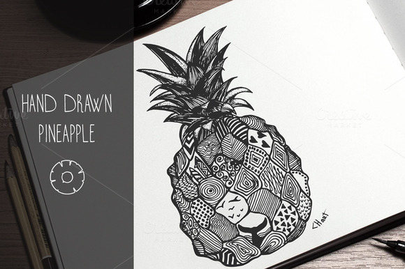 Pineapple Hand Drawn Illustration