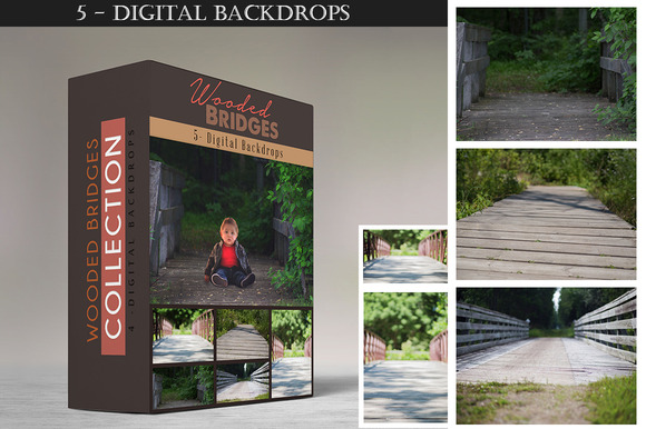 Wooded Bridges Digital Backdrops