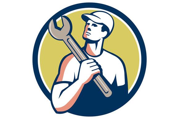 Tradesman Mechanic Spanner Circle Re