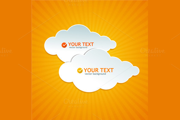 Abstract Paper Cloud Speech Bubble
