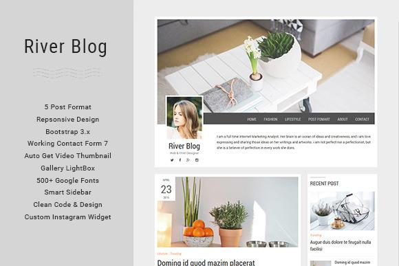 River Blog Elegant Minimal Blog