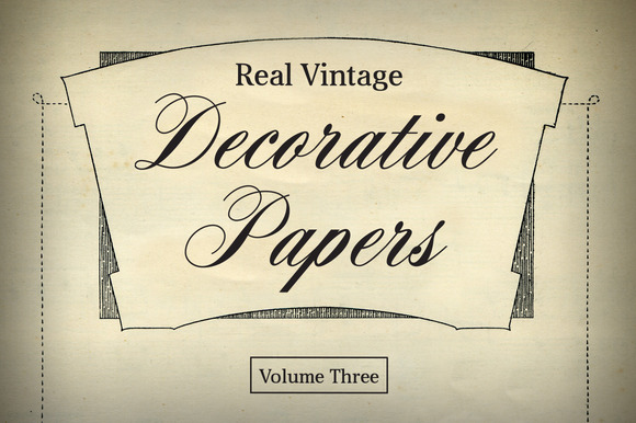 Real Vintage Decorative Papers Vol 3
