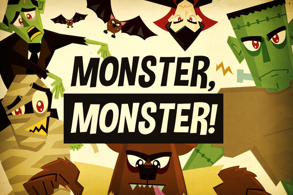 Monster Monster Halloween Vectors