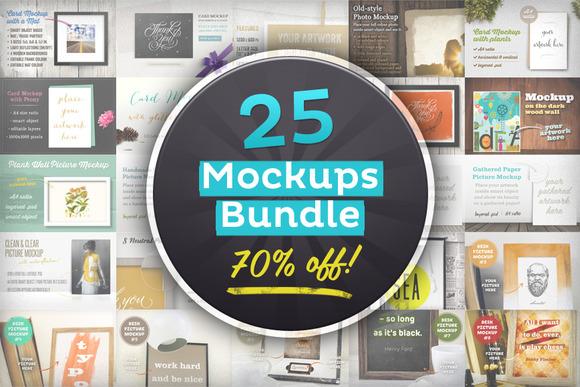 25 Editable Mockups Bundle