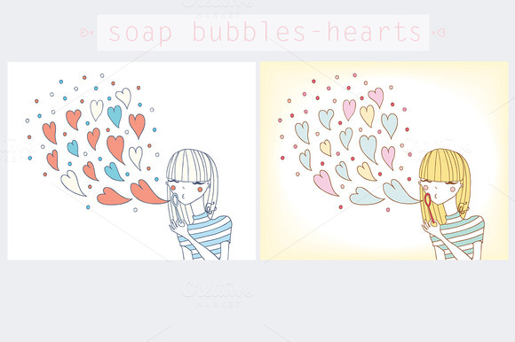 Soap Bubbles-hearts