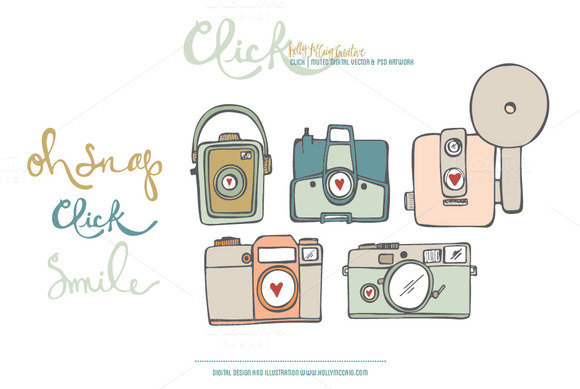 Click PSD Vector Digital Clip Art