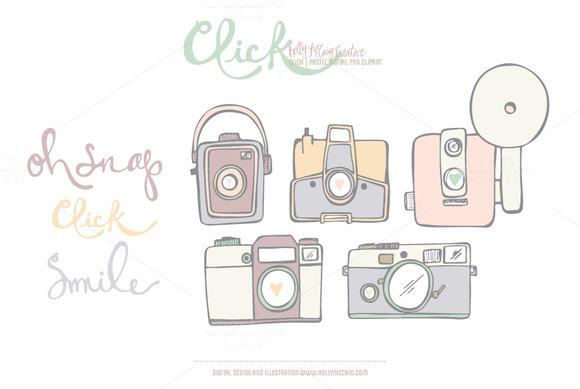 Click PNG Digital Clip Art Pastel