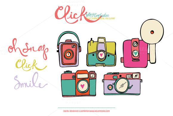 Click PNG Digital Clip Art Vibrant