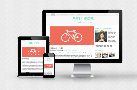 Pretty Hipster WordPress Theme