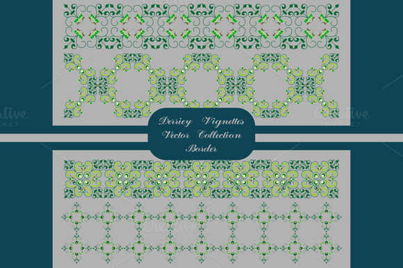 Derriey Vignettes Vector Border