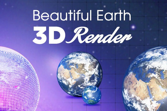 Beautiful 3D Earth Renders