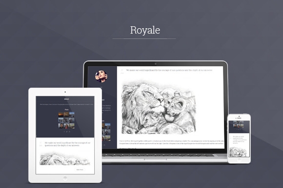 Royale Responsive Ghost Theme