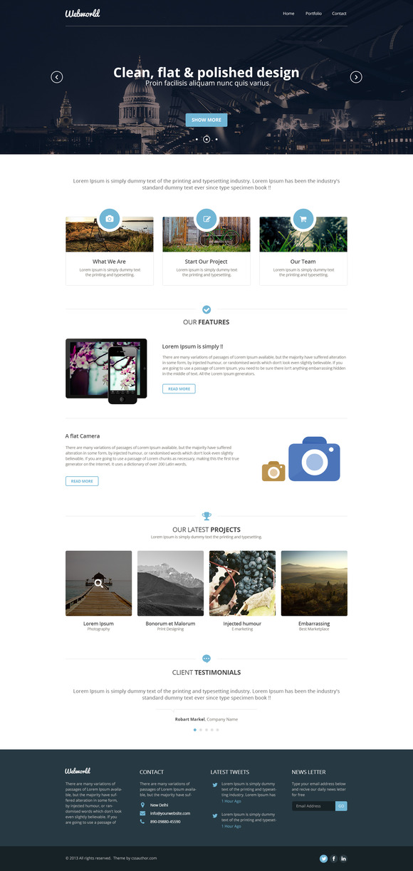 Webworld One Page Template
