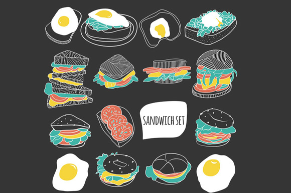 Sandwich Vector Set