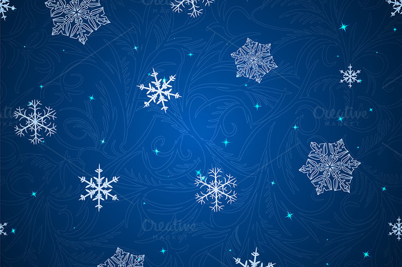 3 Winter Seamless Patterns