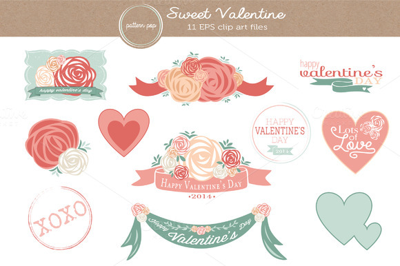 Sweet Valentine Vector Clip Art