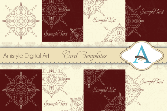 Indian Rangoli Card Templates