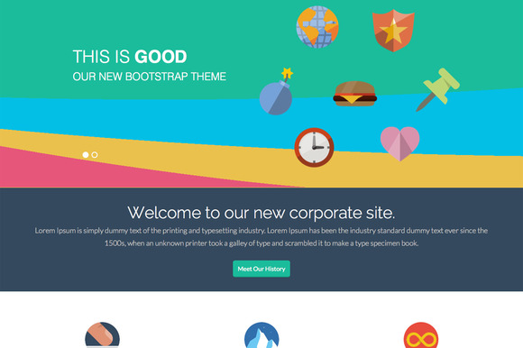 GoodWP Bootstrap WordPress Theme