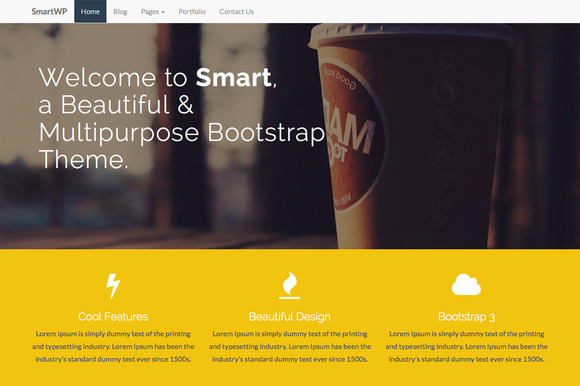 SMART Bootstrap Wordpress Theme